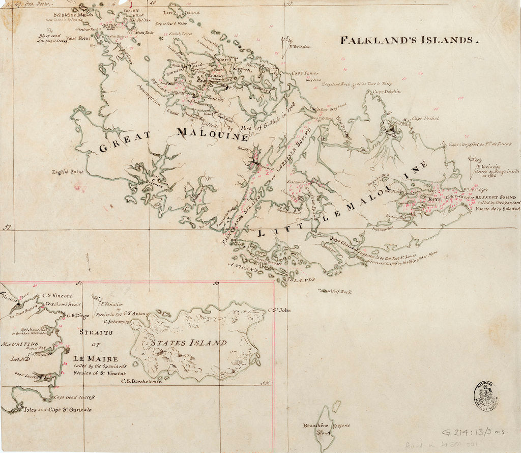 Detail of Falkland's Islands by Anonymous