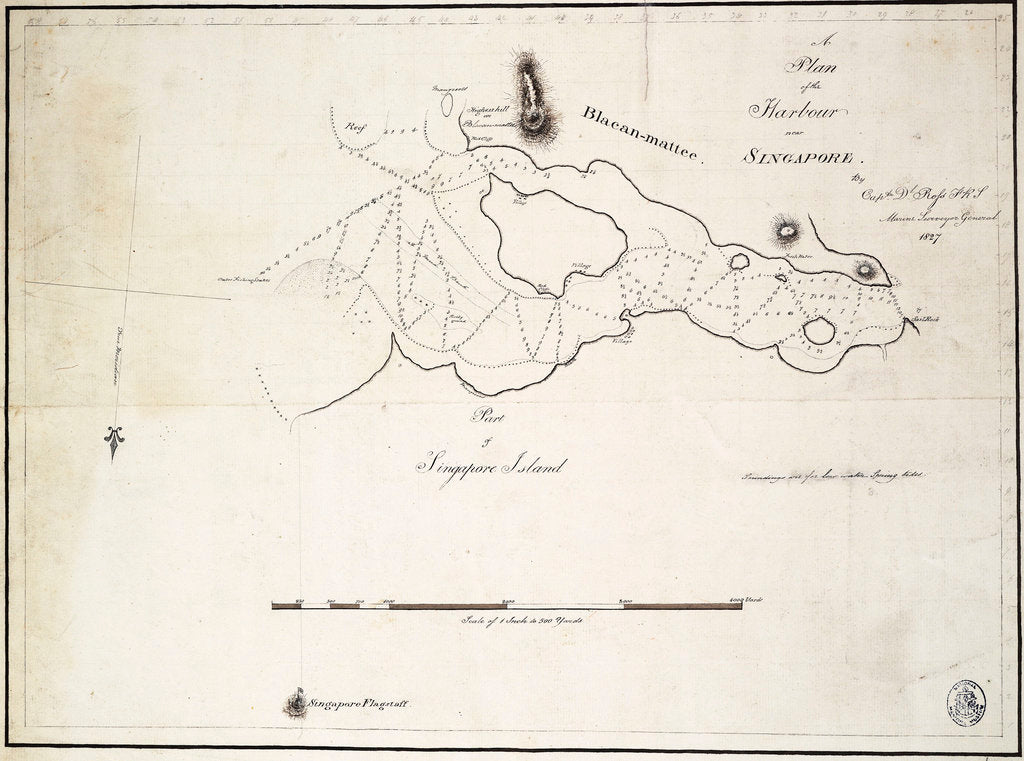 Detail of A plan of the harbour near Singapore by Captain D.l. Ross, FRS Marine Surveyor General by D.l. Ross