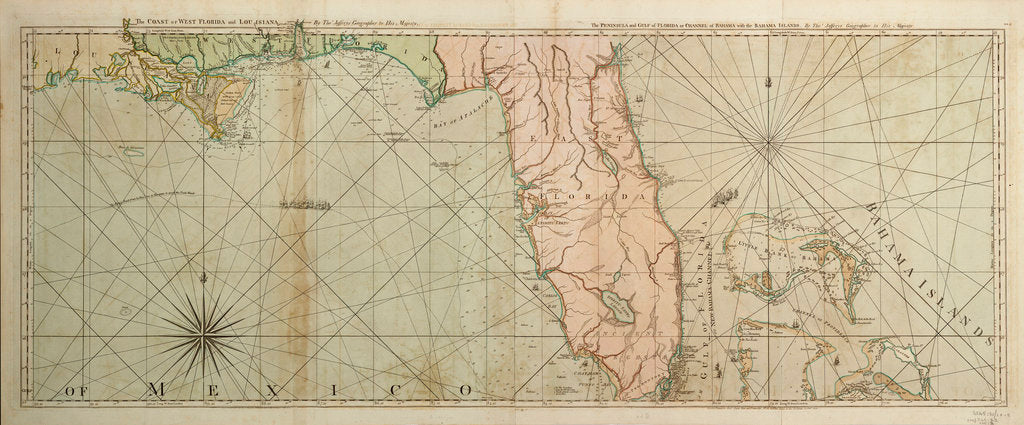 Detail of Map of Florida, 1775 by Thomas Jefferys