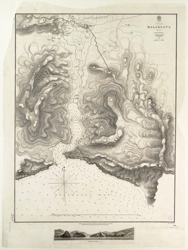 Balaklava Bay, Black Sea, surveyed by Commander Spratt of HMSV 'Spitfire', 1854 by Thomas Spratt