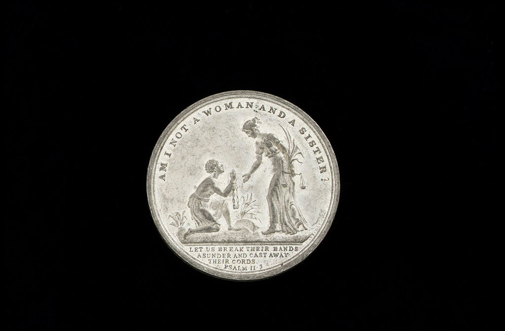 Detail of Commemorative medal (obverse): Slavery abolished by Great Britain, 1834 by Thomas Halliday