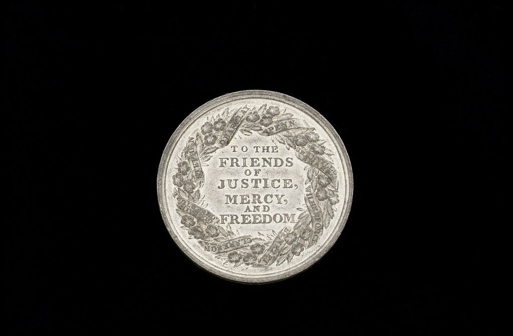 Detail of Commemorative medal (reverse): Slavery abolished by Great Britain, 1834 by Thomas Halliday