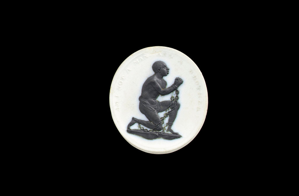 Detail of Slave Emancipation Society medallion by William Hackwood