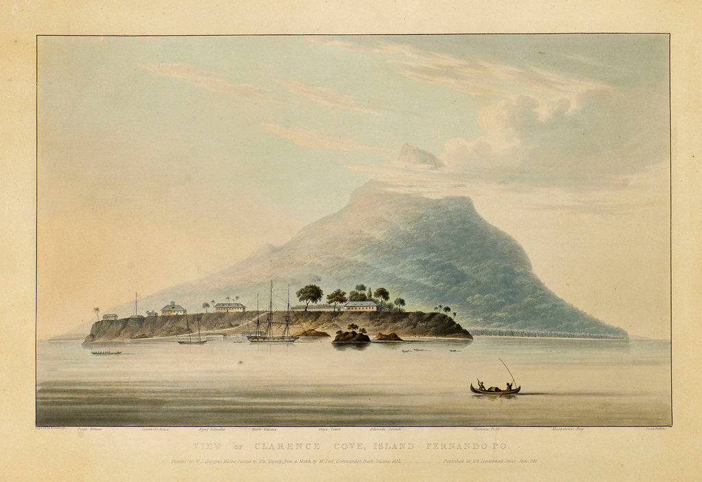 Detail of View of Clarence Cove, Island Fernando Po by Rosenburgh