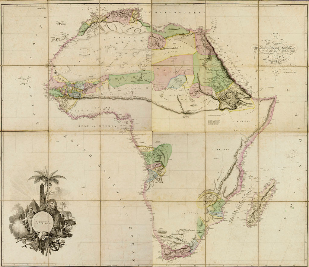 Detail of Map of Africa, 1802 by A. Arrowsmith