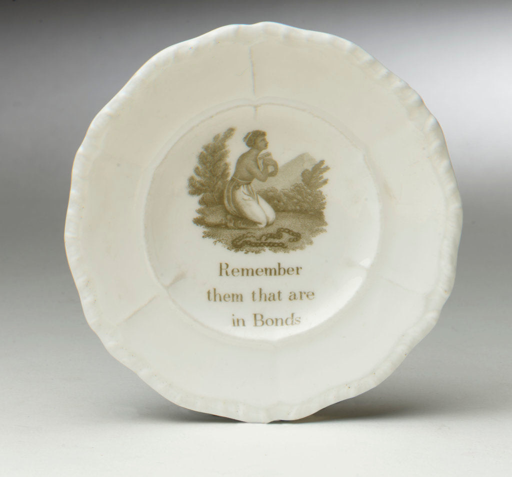 Detail of Abolitionist plate by unknown