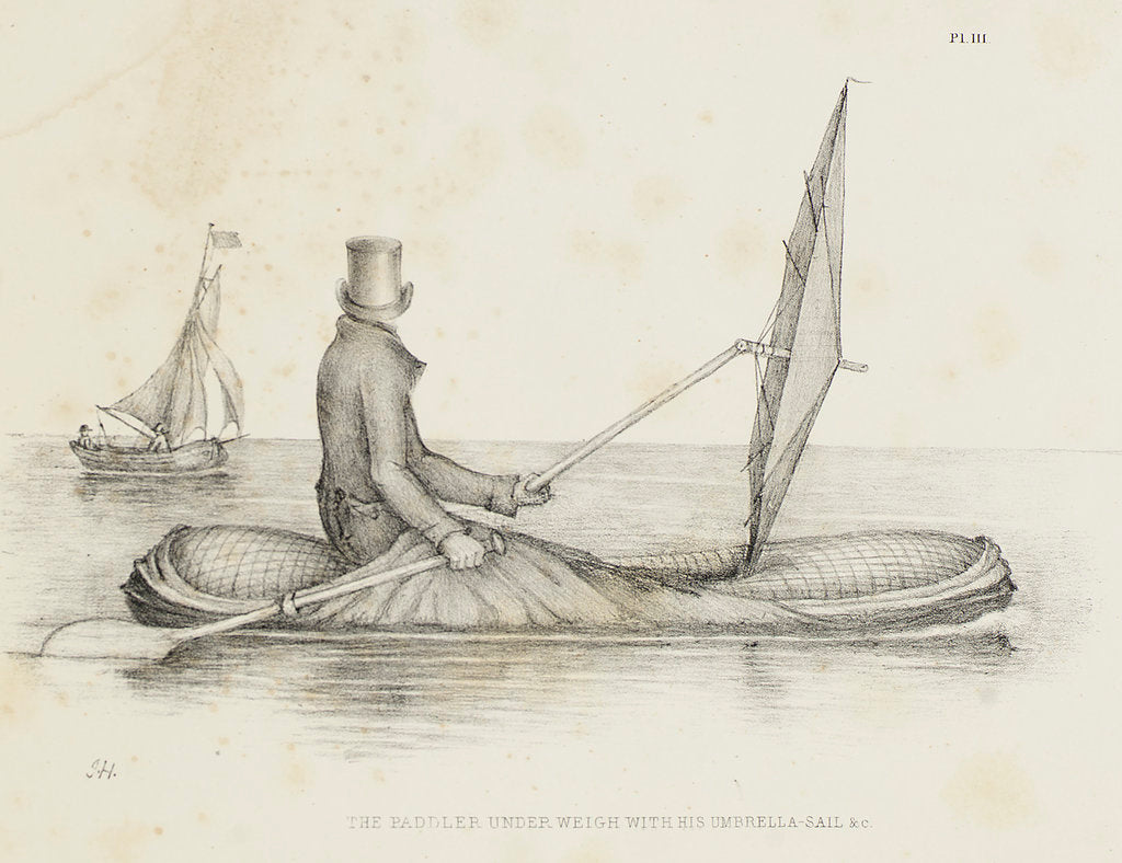 Detail of Halkett's boat-cloak or cloak-boat by unknown