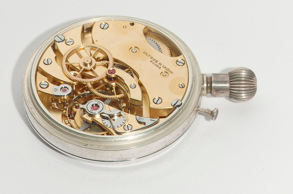 Detail of Deck watch, movement by Ulysse Nardin