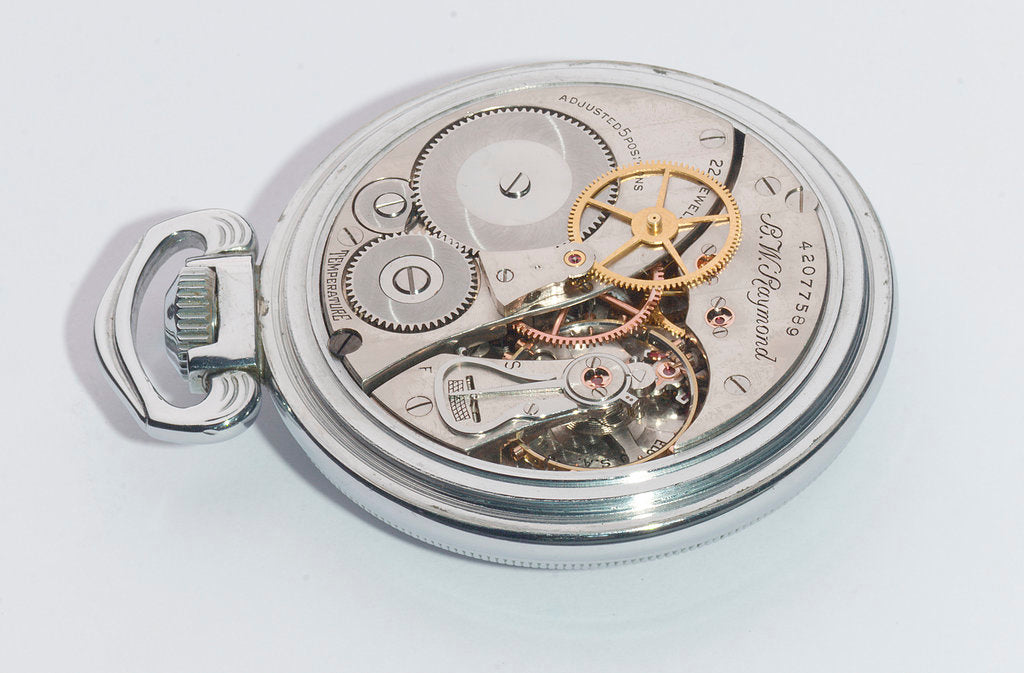 Detail of Deck watch, movement by Elgin