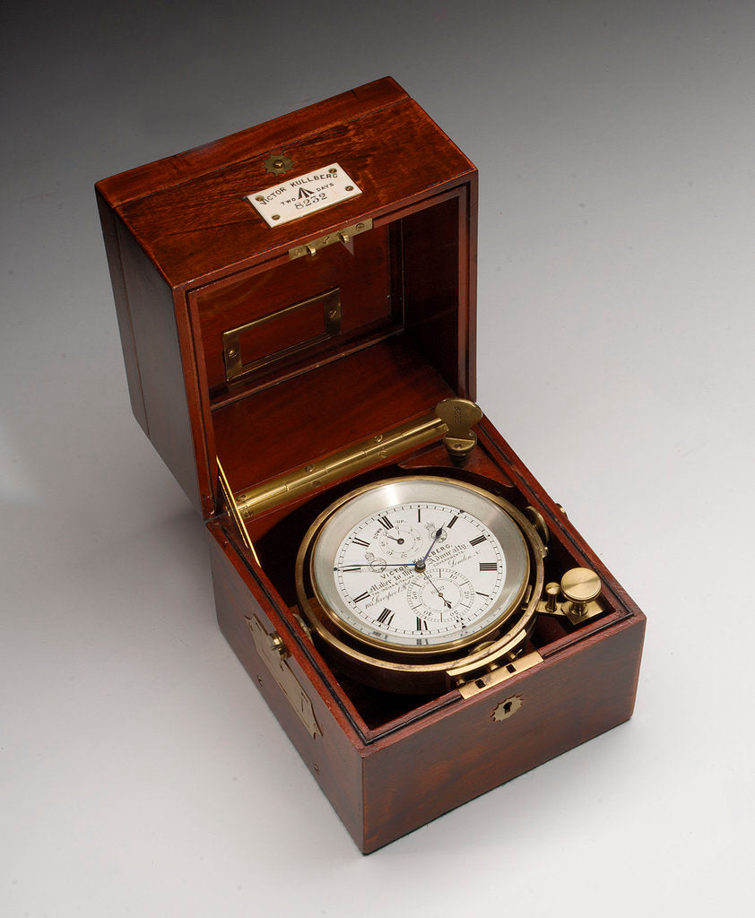 Marine chronometer in case by Victor Kullberg