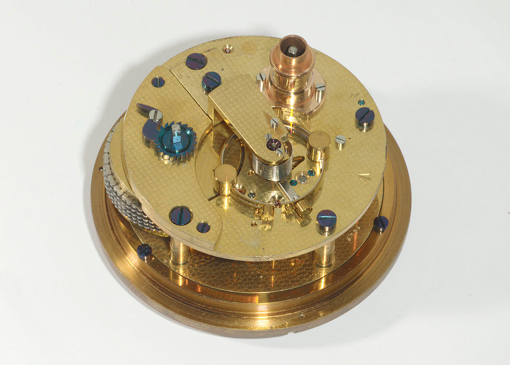 Detail of Marine chronometer, movement by Kullberg