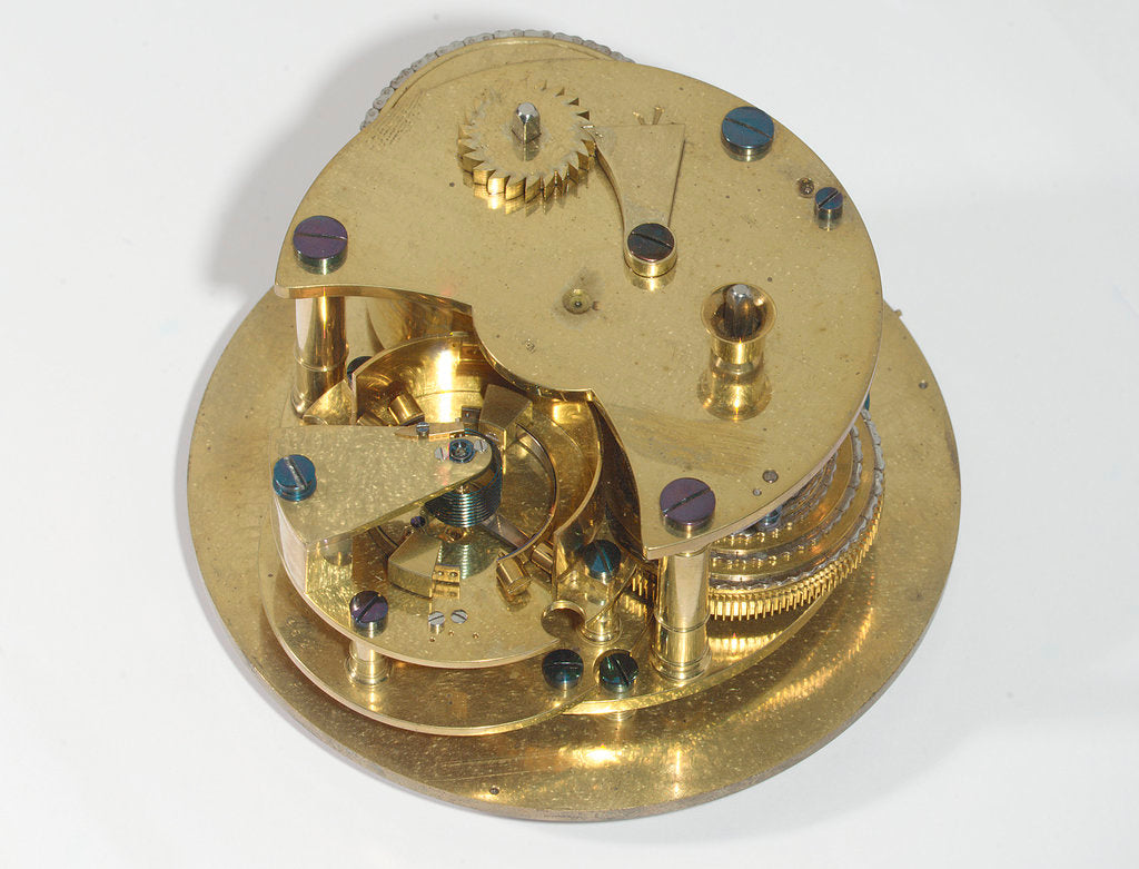 Detail of Marine chronometer, movement by McLachlan