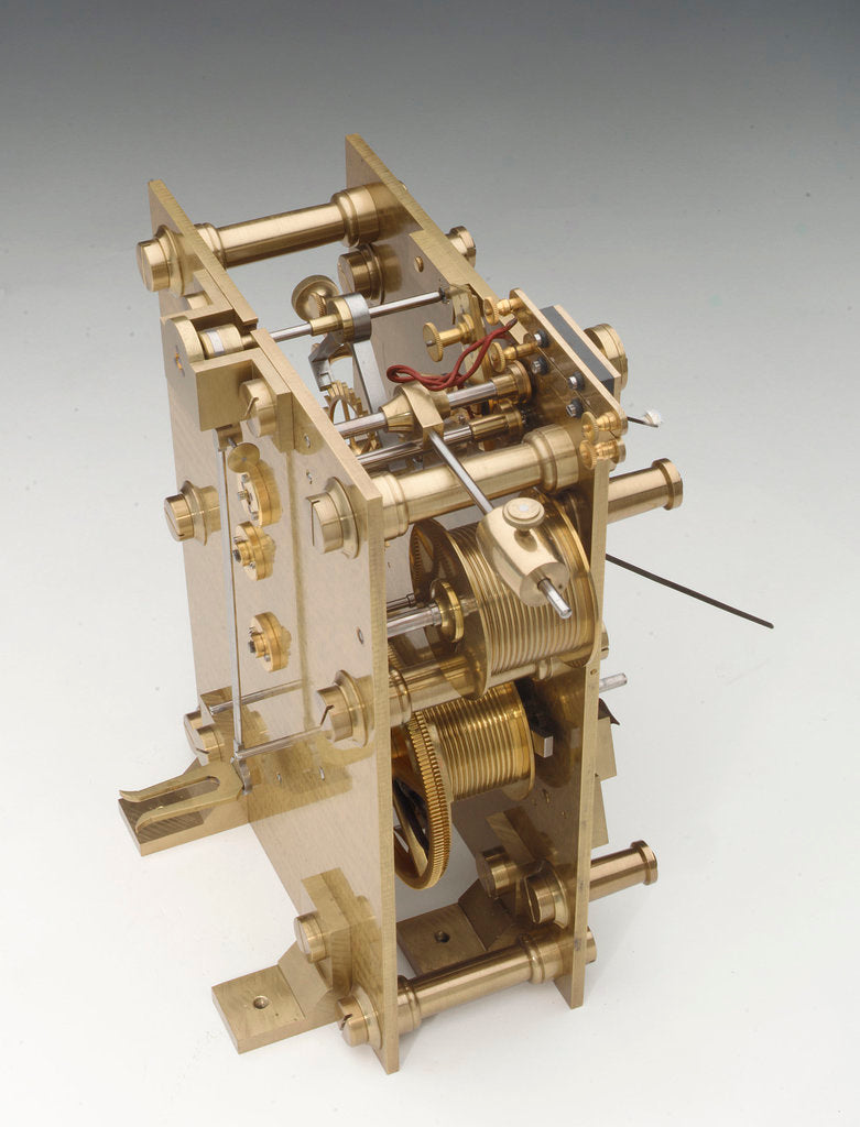 Detail of Astronomical regulator, movement back by Victor Kullberg