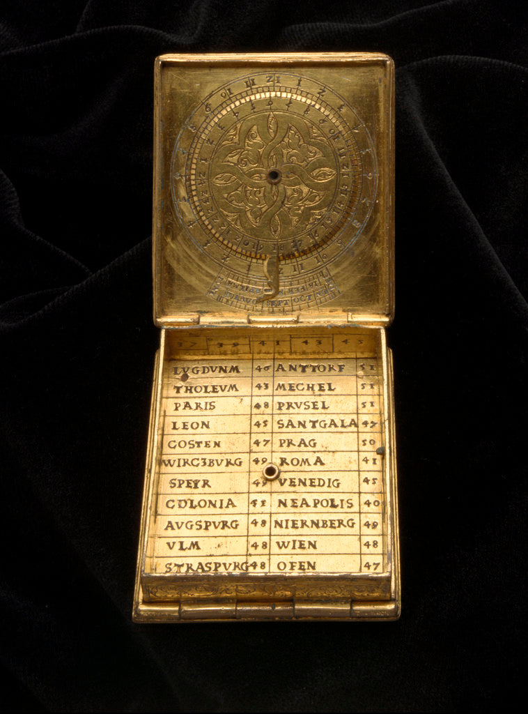 Detail of Astronomical compendium for latitudes 37˚-53˚ north by Ulrich Klieber