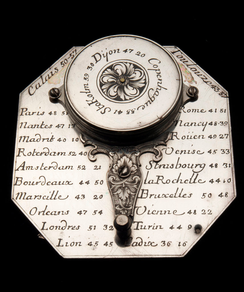 Detail of Butterfield dial, reverse by Macquart
