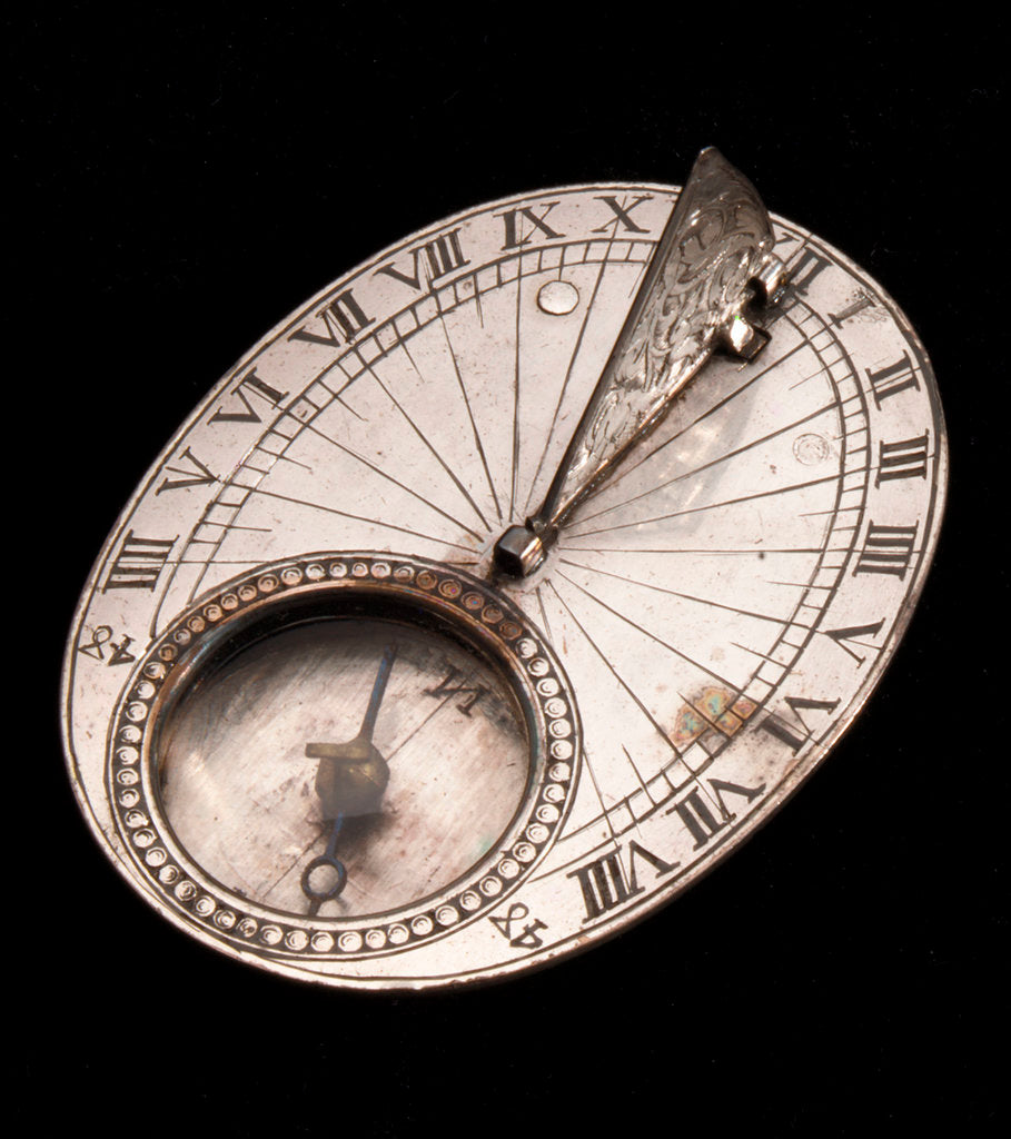Detail of Horizontal dial by Philippe de Mewes
