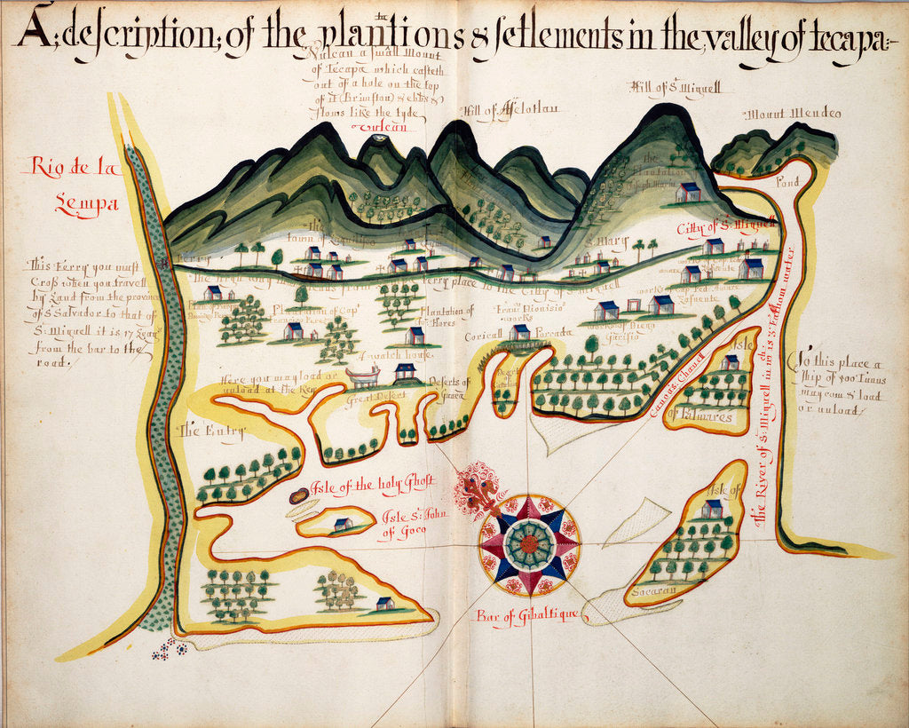 Detail of A description of the Plantations & Setlements in the Valley of Tepaca by William Hack