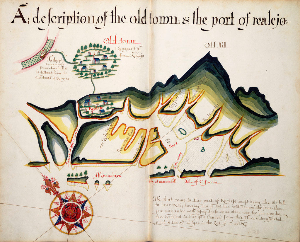 Detail of A description of the Old Town & the Port of Realejo by William Hack