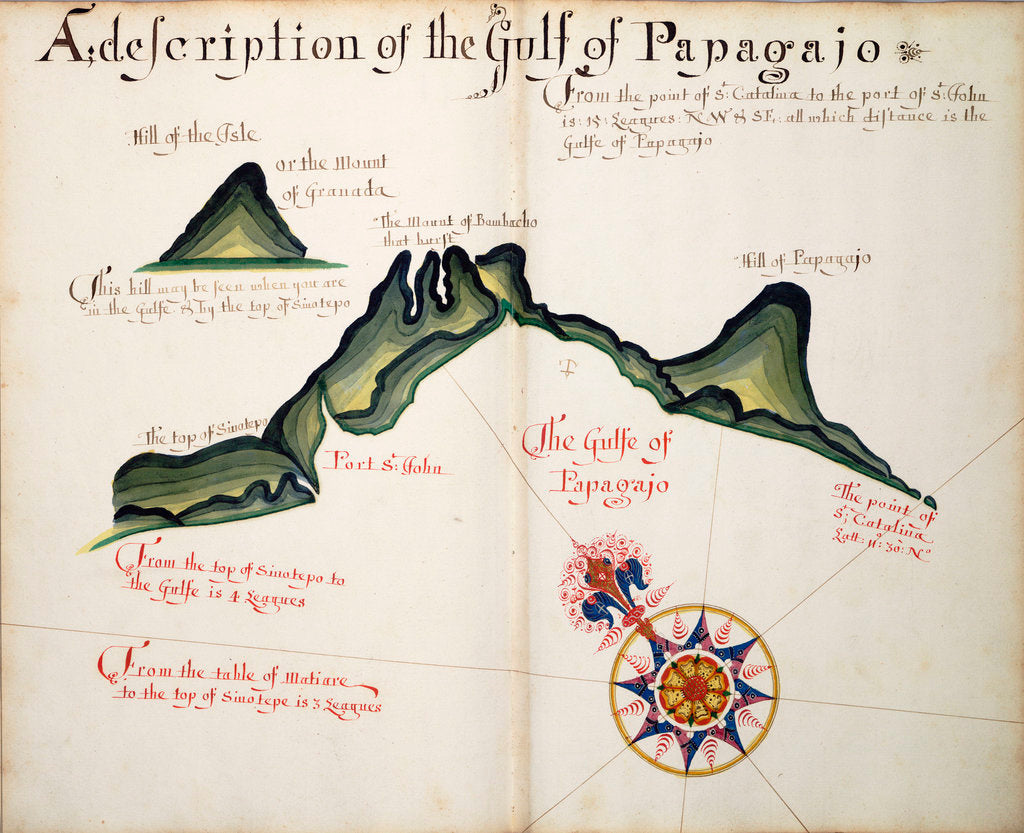 Detail of A description of the Gulf of Papagajo by William Hack