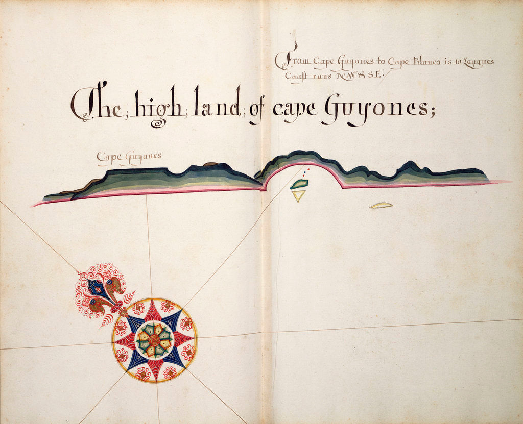 Detail of The High Land of Cape Guyones by William Hack