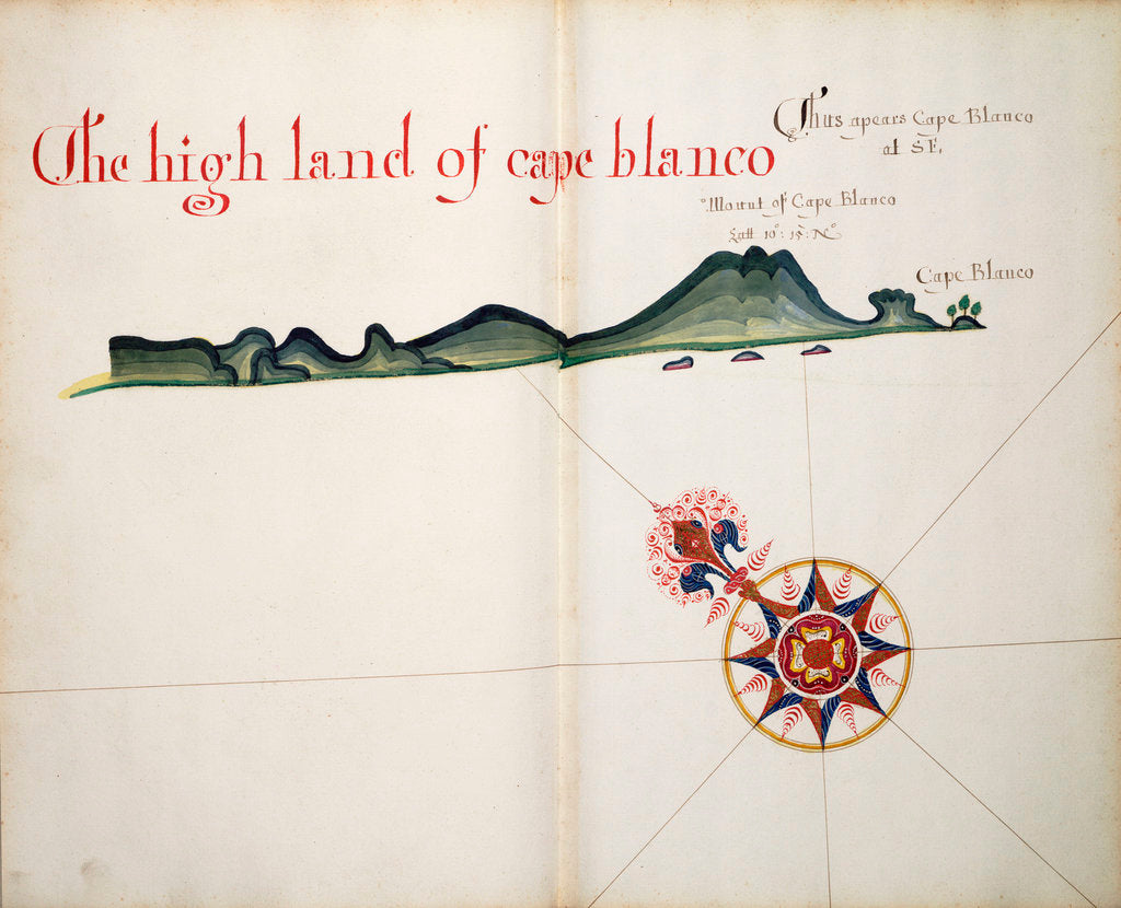 Detail of The High Land of Cape Blanco by William Hack