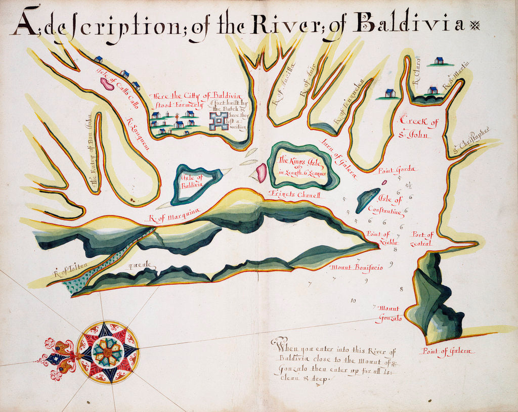 Detail of A description of the river of Baldivia by William Hack