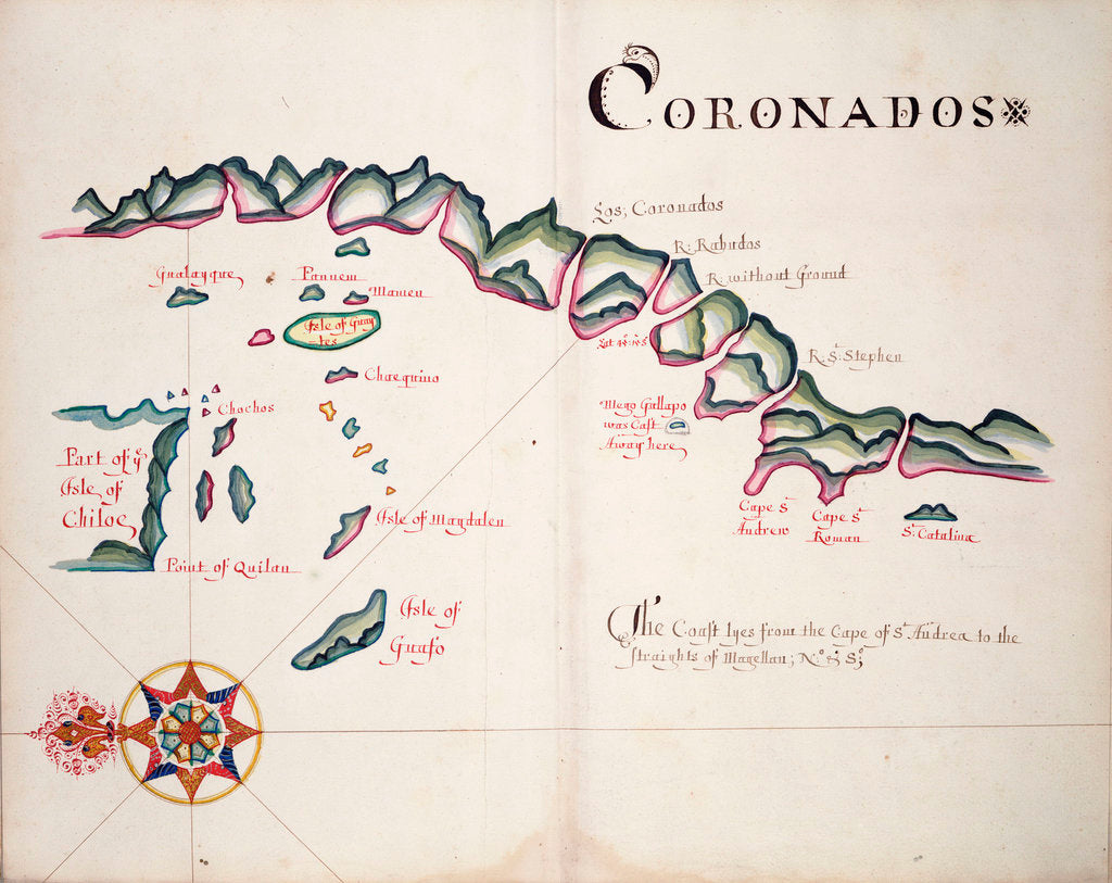 Detail of Coronadoes, South American Pacific coast by William Hack