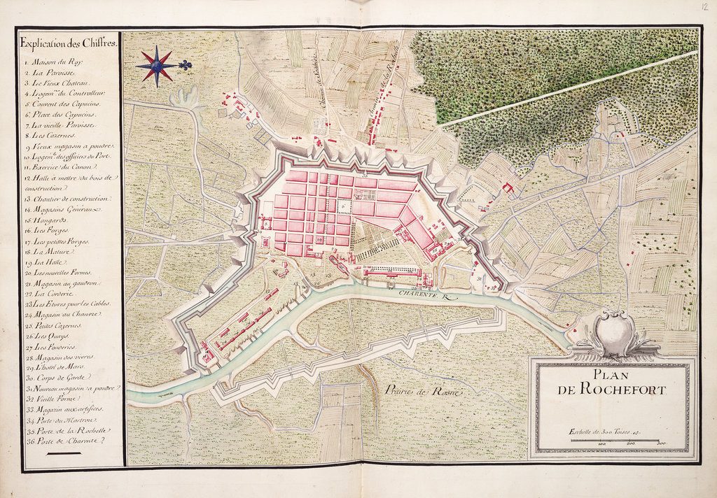 Detail of Plan de Rochefort by unknown