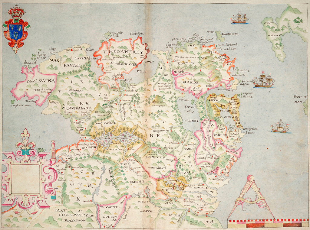 Detail of Map of the north of Ireland by unknown