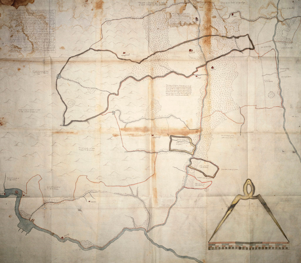Detail of Map of Lismore, Ireland by unknown