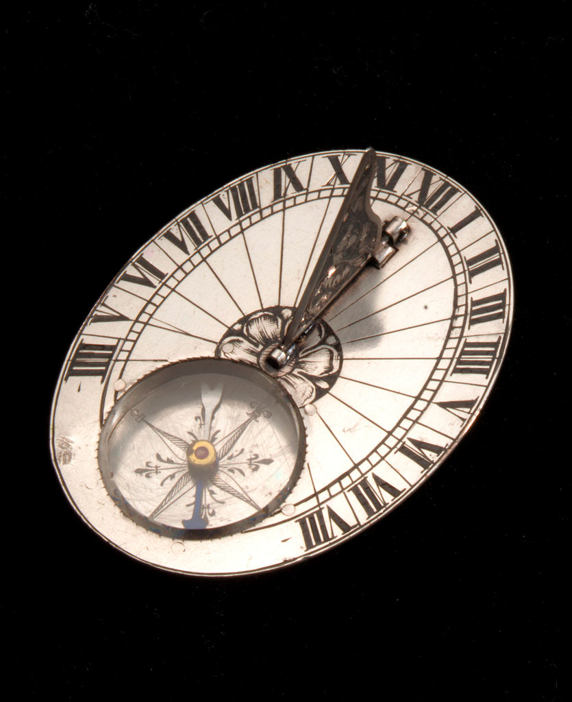 Detail of Portable horizontal dial for latitude 48˚ north. by Claude Bonnevie