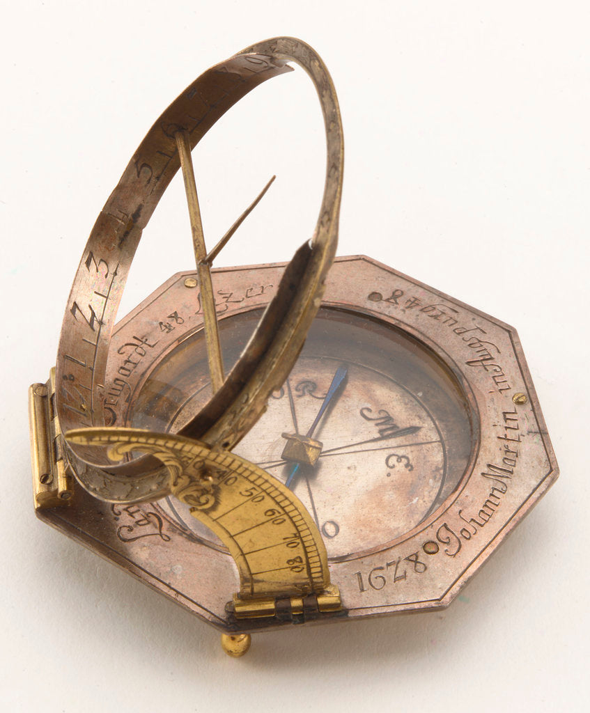 Detail of Augsburg dial by Johann Martin
