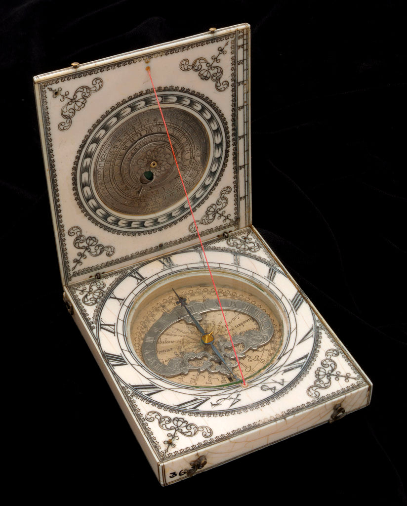 Dieppe magnetic azimuth dial, leaves Ib and IIa by Ephraim Senecal