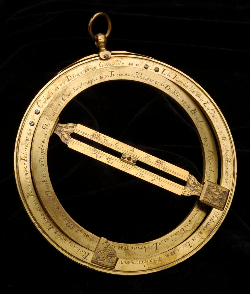 Detail of Universal equinoctial ring dial by Michael Butterfield
