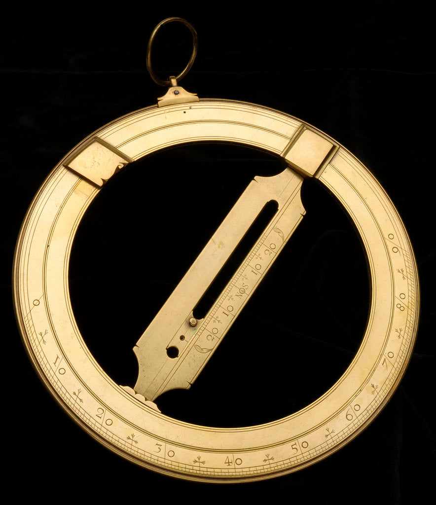 Detail of Universal equinoctial ring dial by Edmund Culpeper