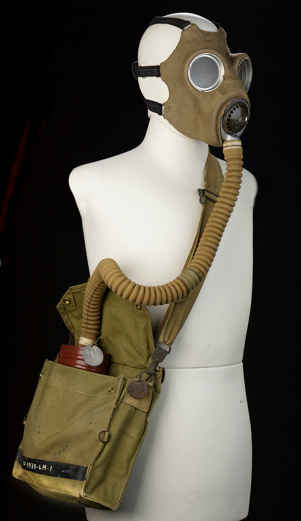 Detail of Non-regulation gas mask by unknown