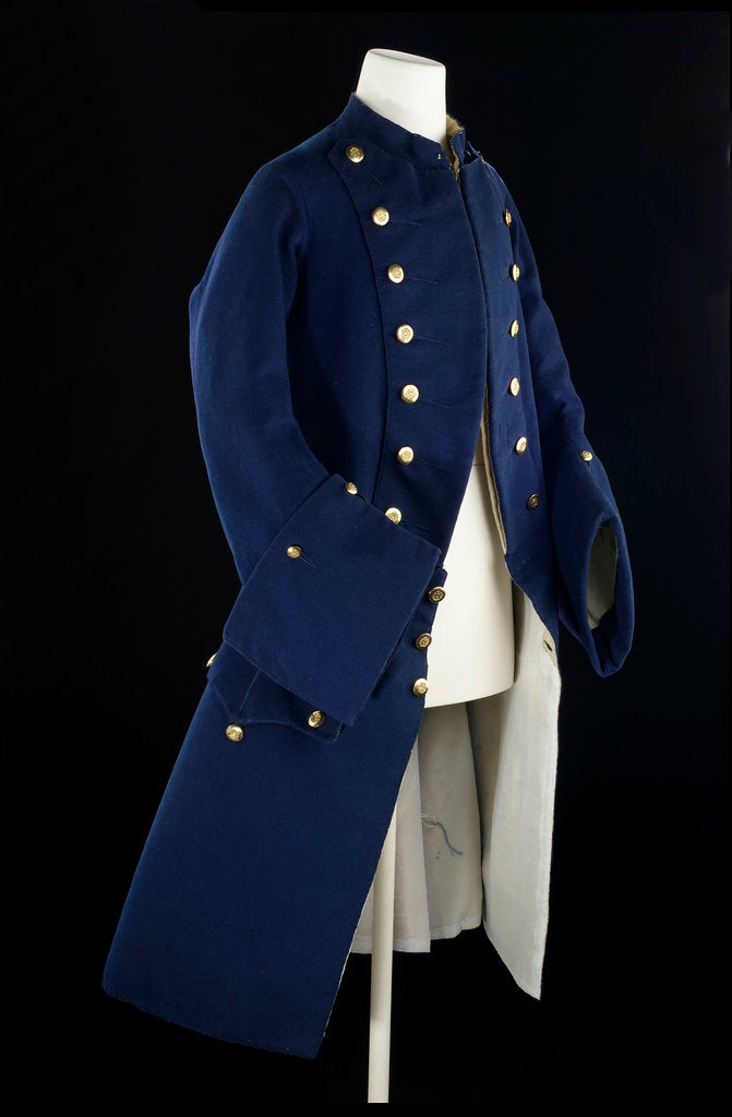 Detail of Royal Naval uniform: pattern 1748-1767 by unknown