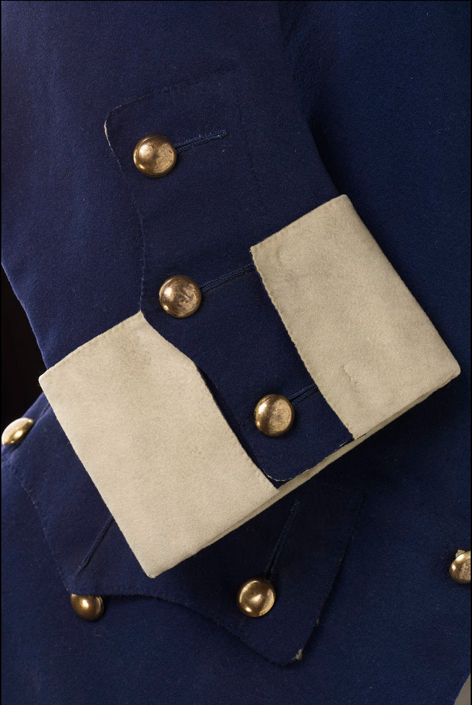 Detail of Royal Naval uniform: pattern 1748-1758 by unknown
