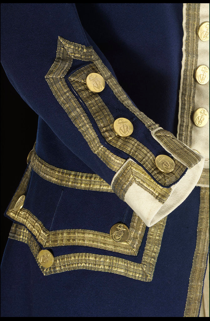 Detail of Royal Naval uniform: pattern 1774 by unknown