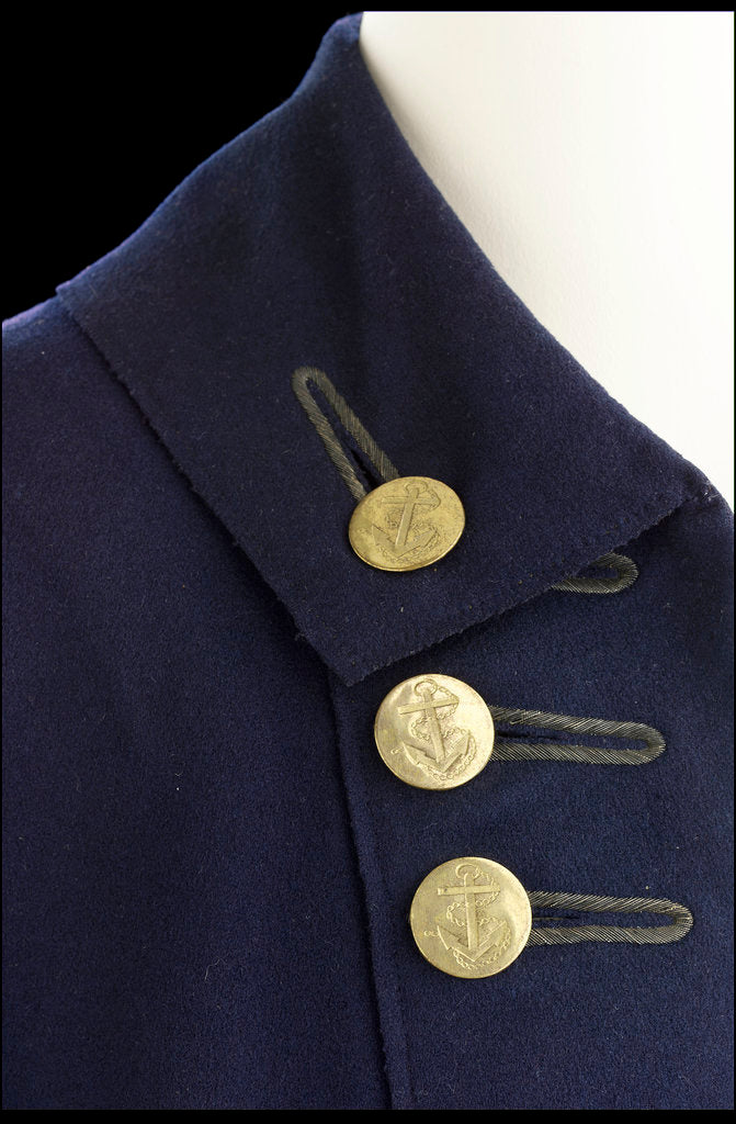 Detail of Royal Naval uniform: pattern 1774-1787 by unknown