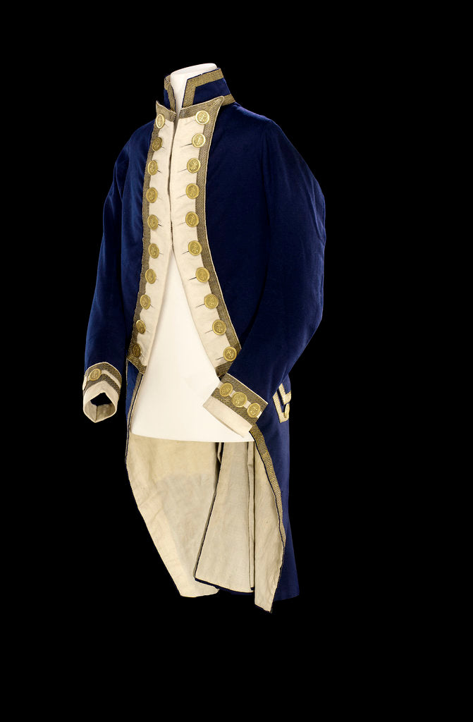 Detail of Royal Naval uniform: pattern 1787 by unknown