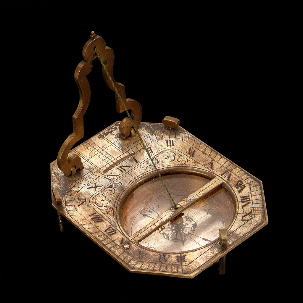 Detail of String-gnomon dial by unknown