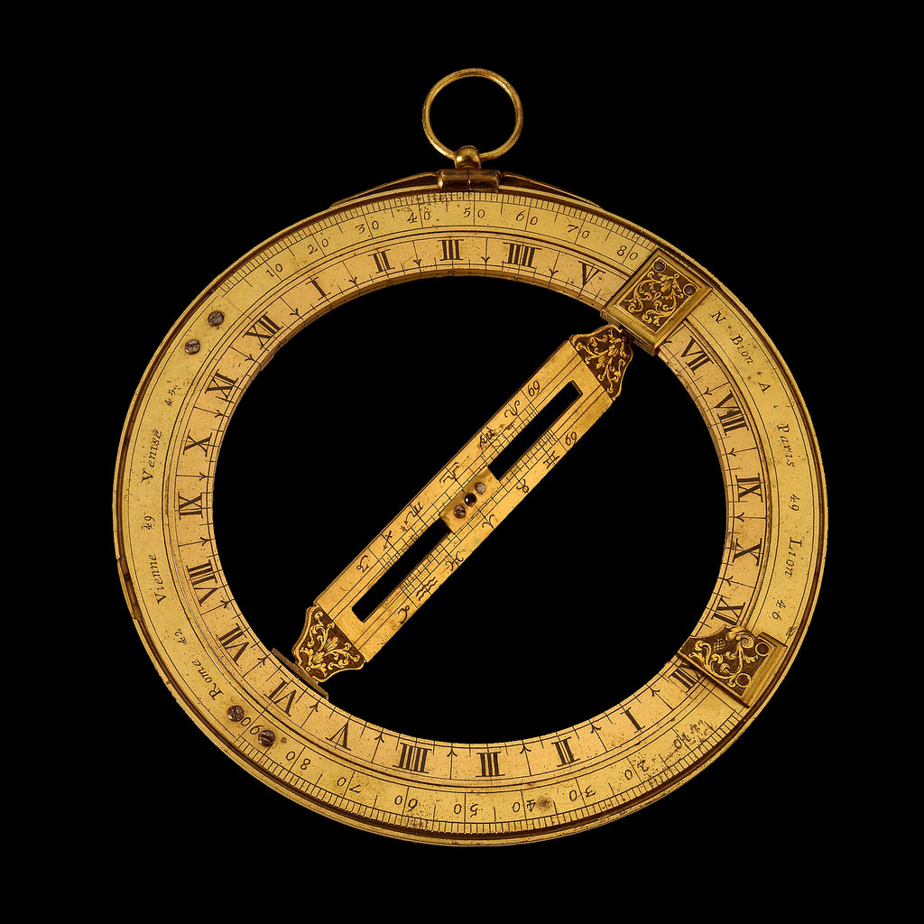 Detail of Universal equinoctial ring dial by Nicolas Bion