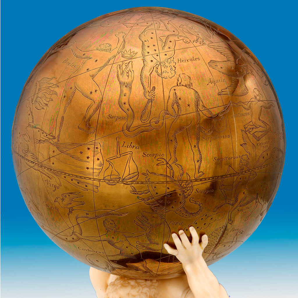 Detail of Celestial table globe by unknown