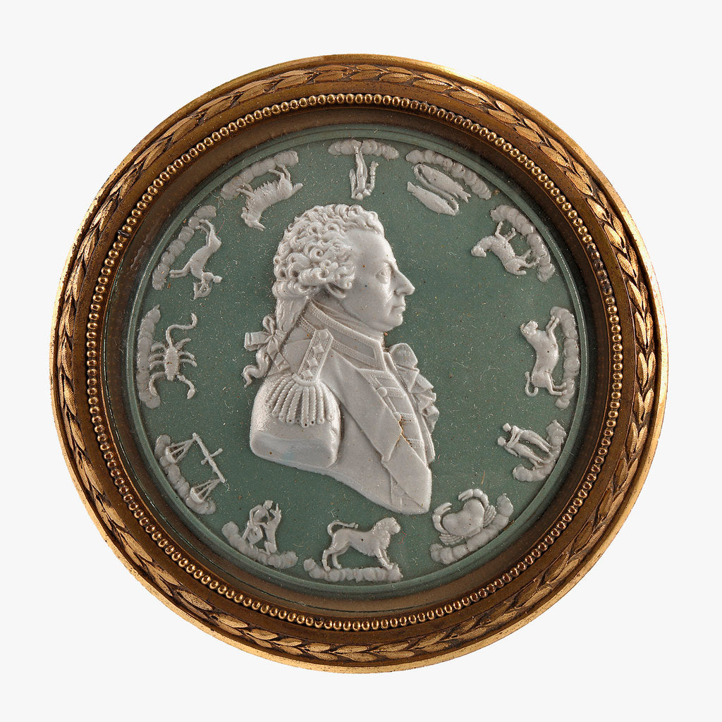 Detail of Circular portrait medallion by unknown