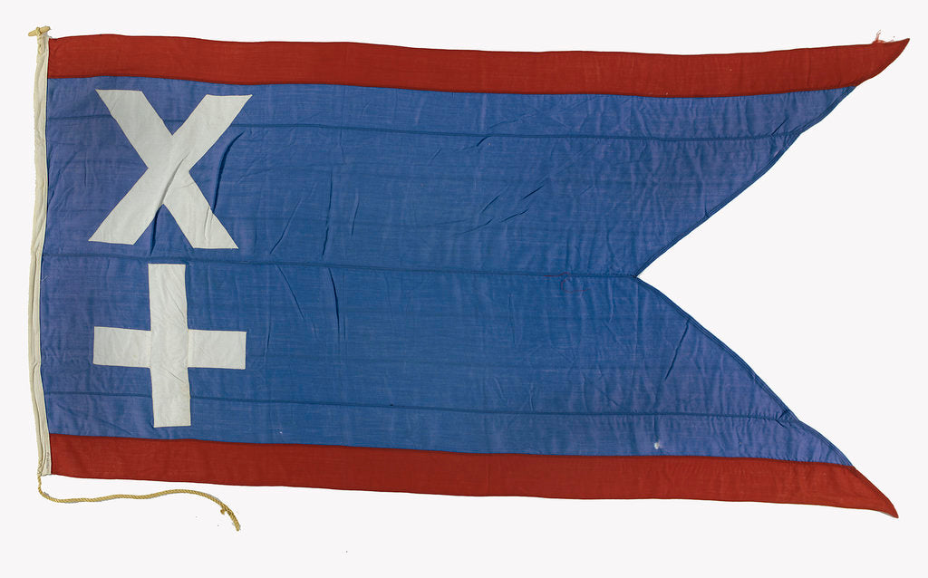 Detail of House flag, Leith Hull & Hamburg Steam Packet Co. Ltd by unknown