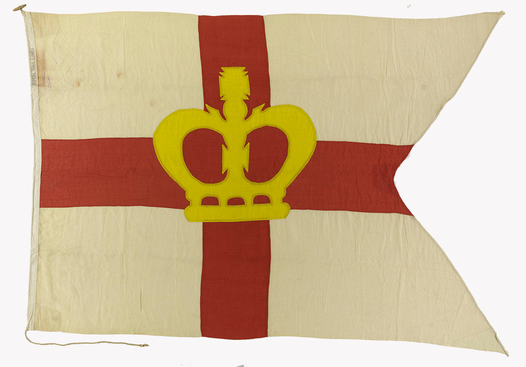 Detail of House flag, Royal Mail Lines Ltd by unknown