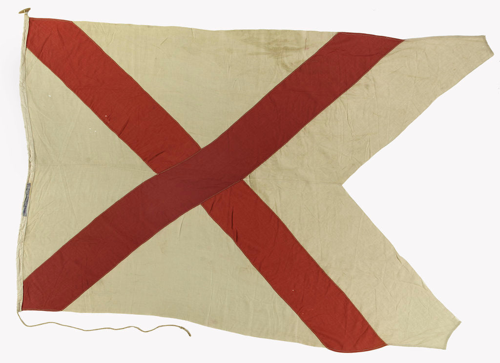 Detail of House flag, British India Steam Navigation Company by unknown