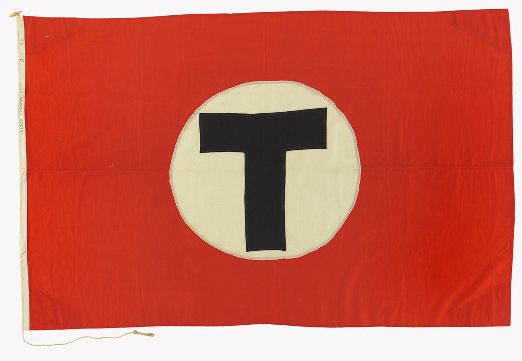 Detail of House flag, Trader Navigation Co. Ltd by unknown