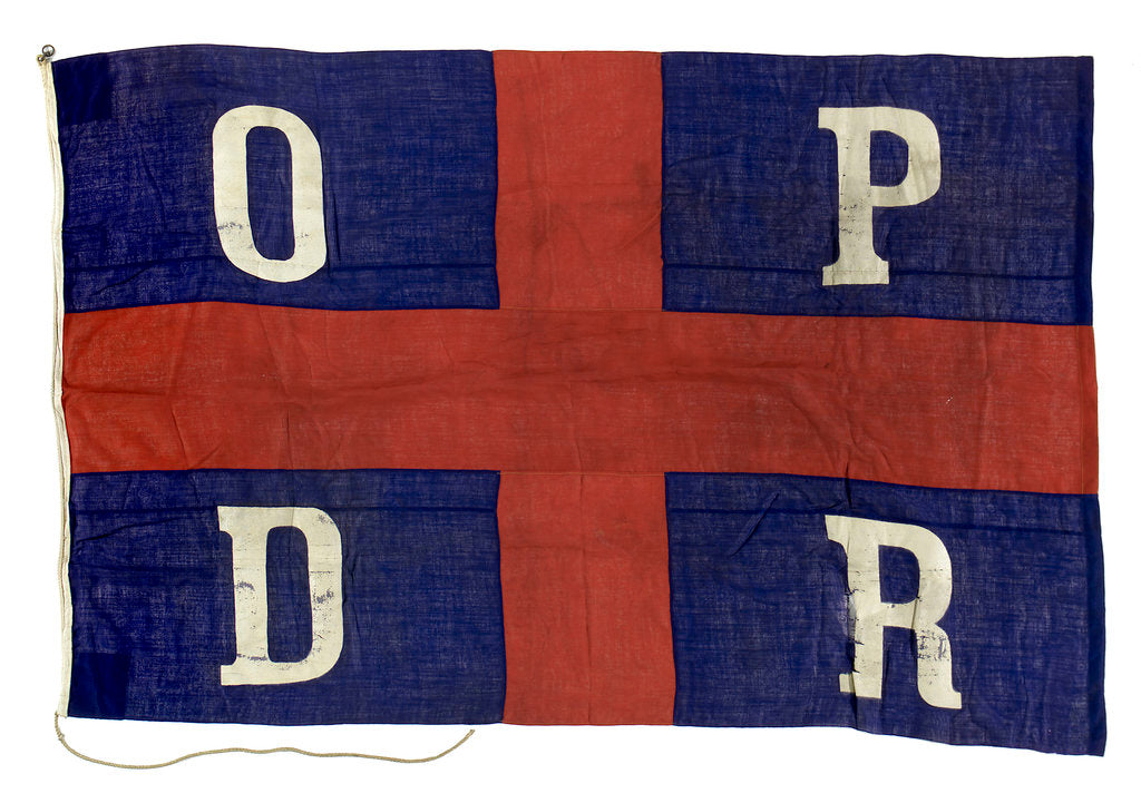 Detail of House flag, Oldenburg Portugiesische Dampschiffs Rhederei by unknown